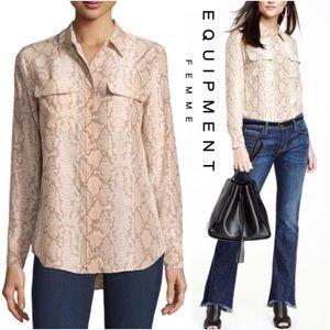 Equipment Python silk blouse size small